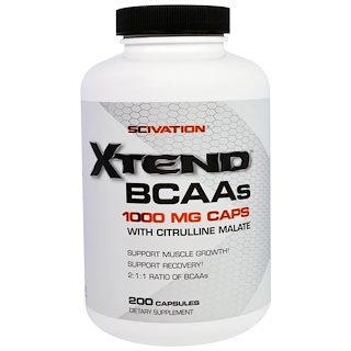 Scivation, Xtend BCAAs, 1000 mg, 200 Capsules