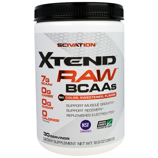 Scivation, Xtend Raw BCAAs, Unflavored, 12.9 oz (366 g)
