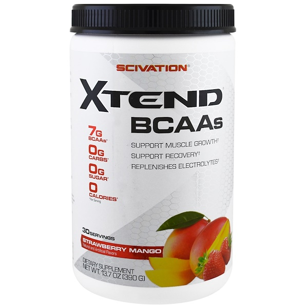 Scivation, Xtend BCAAs، فراولة ومانجو، 13.7 أونصة (390 غ) (Discontinued Item)