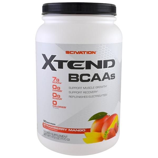 Scivation, Xtend, BCAAs, Strawberry Mango, 2.57 lbs (1170 g)