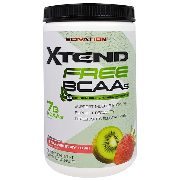 Scivation, Xtend Free BCAAs, Strawberry Kiwi, 15.8 oz (450 g) (Discontinued Item)