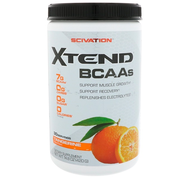 Scivation, Xtend BCAAs, Tangerine, 14.8 oz (420 g) (Discontinued Item)