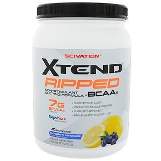 Scivation, BCAA de Xtend Ripped, limonada de arándano, 17,7 onzas líquidas (501 g)