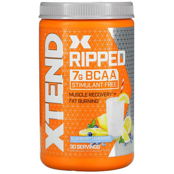 Xtend, Ripped, 7G BCAAs, Blueberry Lemonade, 1.09 lbs (495 g)
