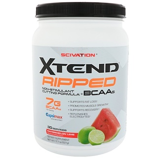 Scivation, Xtend Ripped BCAAs, Watermelon Lime, 17.7 oz (501 g)