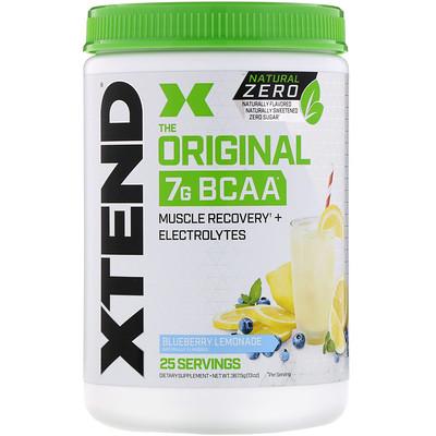 Купить Xtend The Original, Natural Zero, 7г аминокислот с разветвленной цепью (BCAA), со вкусом голубичного лимонада, 367, 5г (13унций)