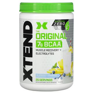 Xtend, The Original, Natural Zero, 7г аминокислот с разветвленной цепью (BCAA), со вкусом голубичного лимонада, 367,5г (13унций)