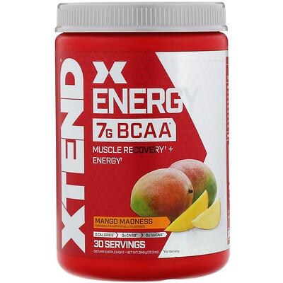 Купить Xtend Energy, 7г аминокислот с разветвленной цепью, со вкусом манго, 348г (12, 3унции)