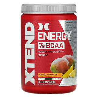 Xtend, Energy, 7г аминокислот с разветвленной цепью, со вкусом манго, 348г (12,3унции)