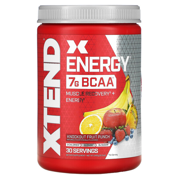 Xtend Energy, Muscle Recovery + Energy, Knockout Fruit Punch, 12.3 oz (348 g)