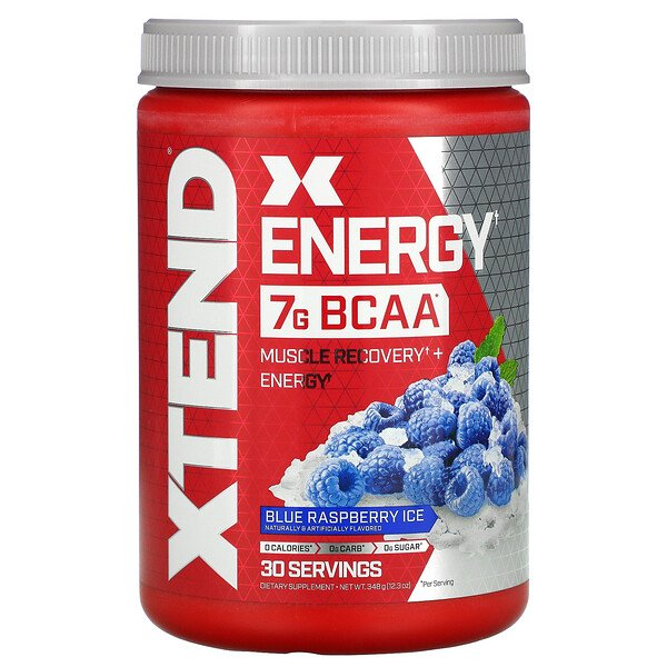 Energy, 7 g de BCAA, Framboesa Azul Congelante, 348 g (12,3 oz)