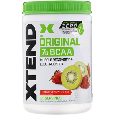 Купить Xtend The Original, Natural Zero, 7г аминокислот с разветвленной цепью (BCAA), со вкусом клубники и киви, 367, 5г (13унций)