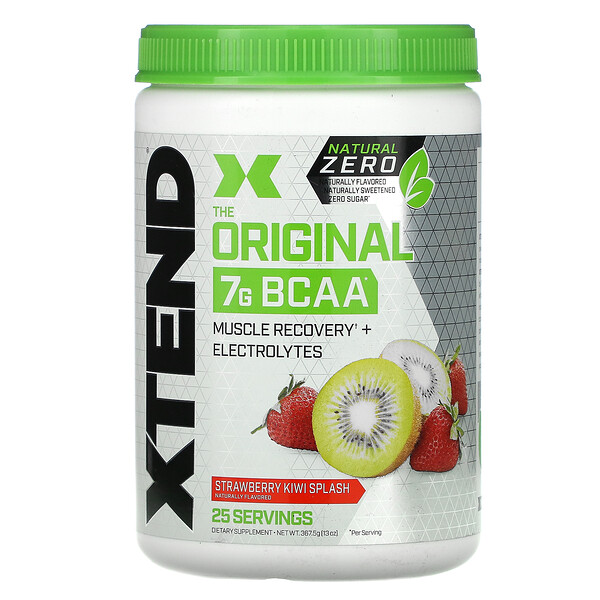 The Original 7G BCAA, Natural Zero, Strawberry Kiwi Splash, 13 oz (367.5 g)