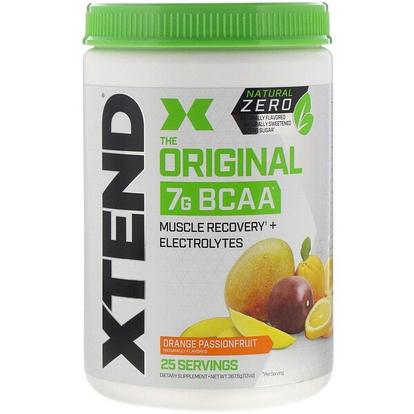 Xtend(エクステンド)、オリジナル7G BCAA、ナチュラルゼロ、オレンジパッションフルーツ、367.5g(13オンス)