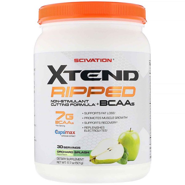 Scivation, Xtend, Ripped BCAAs, Orchard Splash, 17.7 oz (501 g)