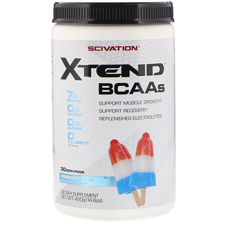 Scivation, Xtend, BCAAs, Freedom Ice, 14.8 oz (420 g)