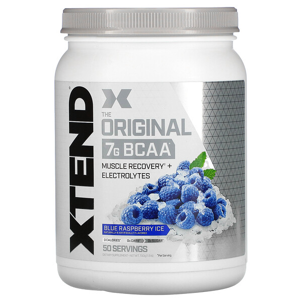 Xtend, 7 جم من الأحماض الأمينية متشعبة السلسلة، نكهة التوت الأزرق والثلج، 1,5 أونصة (700 جم) (Discontinued Item)