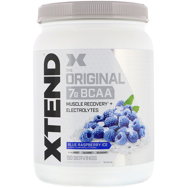 Scivation, Xtend, The Original 7g BCAA, Blue Raspberry Ice, 1.5 lb (700 g)