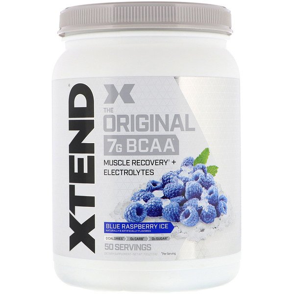 Xtend, The Original, 7 g de BCAA, Framboise bleue glacée, 700 g (Discontinued Item)