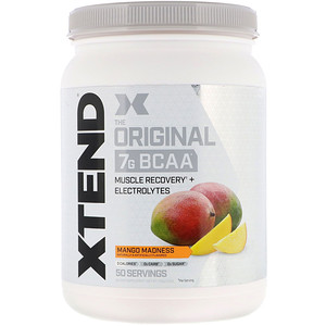 Xtend, The Original 7G BCAA, Mango Madness, 1.5 lb (700 g) отзывы покупателей
