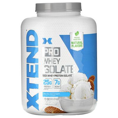 Купить Xtend Pro, изолят сывороточного протеина, со вкусом ванильного мороженого, 2, 27кг (5фунтов)