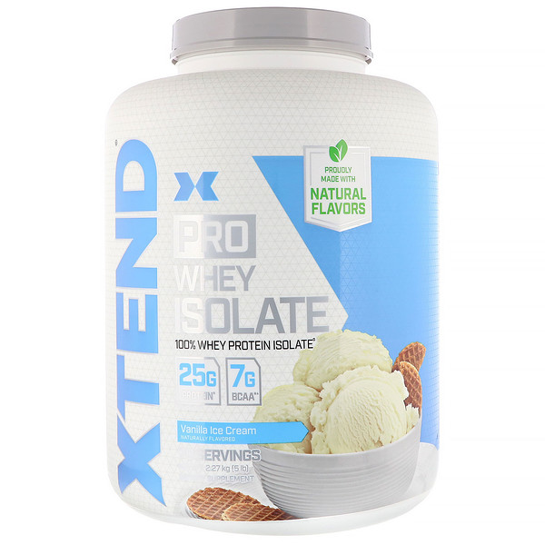 Xtend, Pro, Whey Isolate, Vanilla Ice Cream, 5 lb (2.27 kg)