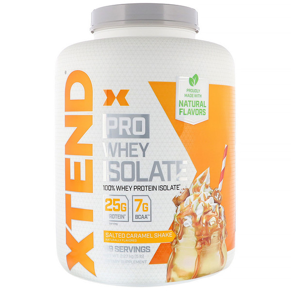 Xtend, Pro, Whey Isolate, Salted Caramel Shake, 5 lb (2.27 kg)