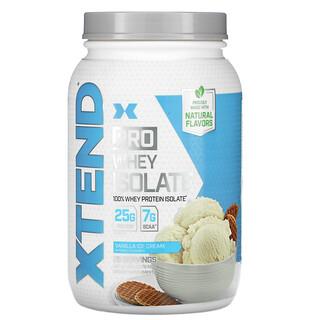 Xtend, Pro, изолят сывороточного протеина, со вкусом ванильного мороженого, 810г (1,78фунта)