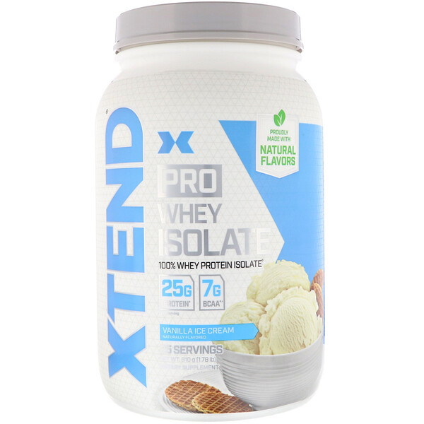 Pro, Whey Isolate, Vanilla Ice Cream, 1.78 lb (810 g)