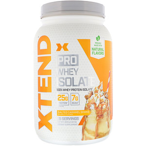 Xtend, Pro, Whey Isolate, Salted Caramel Shake, 1.81 lb (823 g) отзывы