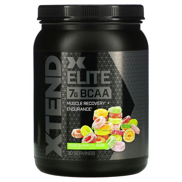 Xtend, Xtend Elite، مكمل غذائي، 7 جم من الأحماض الأمينية متفرعة السلسلة، بنكهة الحلوى الحامضة، سعة 1.19 رطل (540 جم) (Discontinued Item)