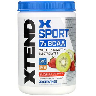 Купить Xtend Sport, 7г аминокислот с разветвленной цепью (BCAA), со вкусом клубники и киви, 345г (12, 2унции)