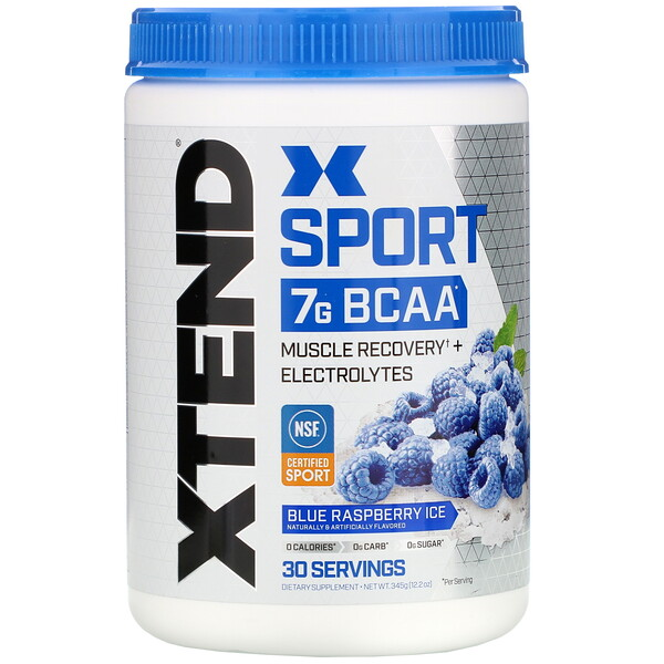 Sport, 7G BCAA, Blue Raspberry Ice, 12.2 oz (345 g)