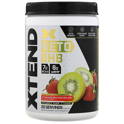 Купить Xtend Keto BHB (бета-гидроксибутират), со вкусом клубники и киви, 344г (12, 1унции)