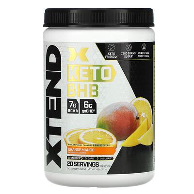 Купить Xtend, Keto BHB (бета-гидроксибутират), апельсин и манго, 332г (11, 7унции)