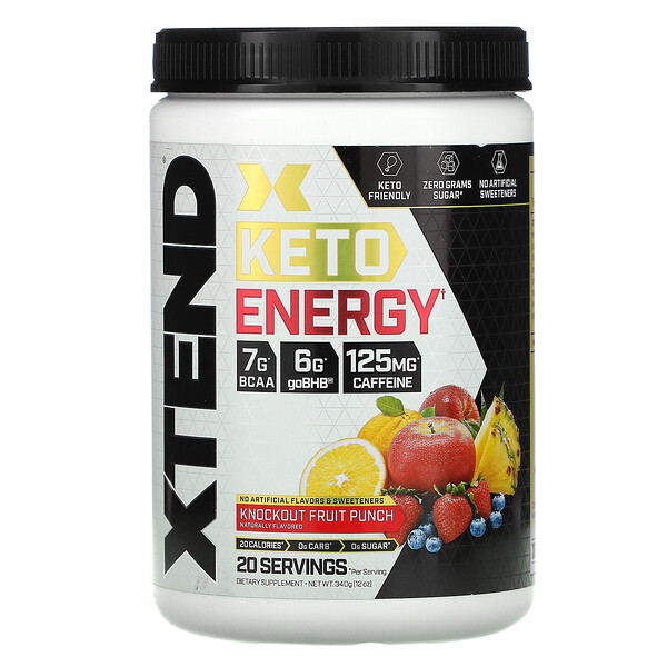Keto Energy, Knockout Fruit Punch, 12 oz (340 g)