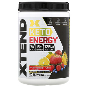 Scivation, Xtend, Keto Energy, Knockout Fruit Punch, 12 oz (340 g)