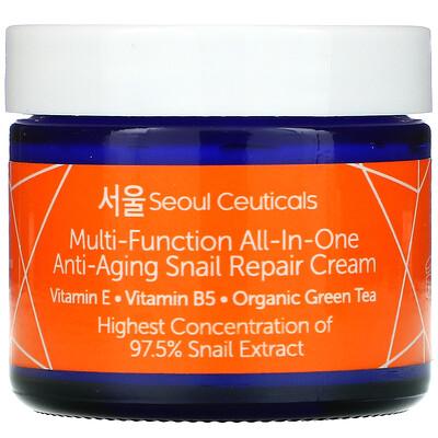 SeoulCeuticals Multi-Function All-In-One Anti-Aging Snail Repair Cream , 2 fl oz (60 ml)