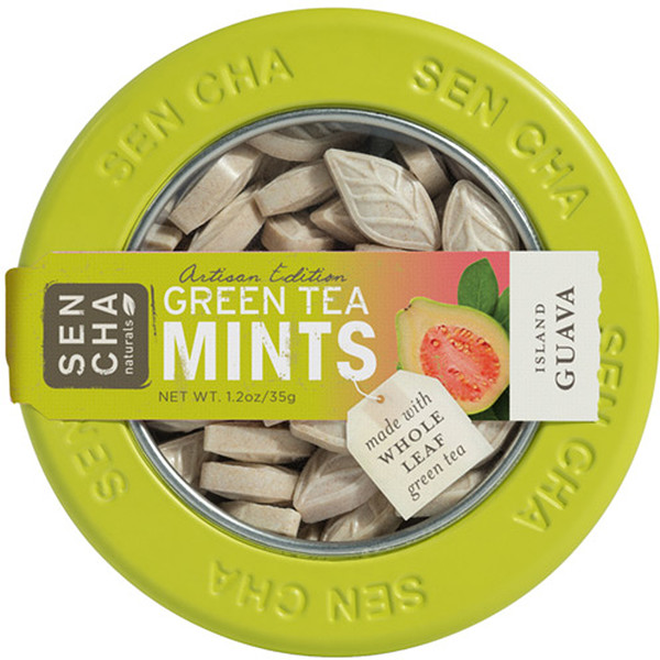 Sencha Naturals, Green Tea Mints, Island Guava, 1.2 oz (35 g) (Discontinued Item)