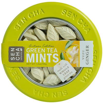Sencha Naturals Мятные леденцы со вкусом зеленого чая, имбиря и юдзу, 1,2 унции (35 г)