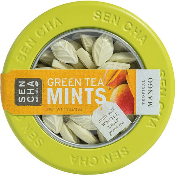 Green Tea Mints, Tropical Mango, 1.2 oz (35 g)