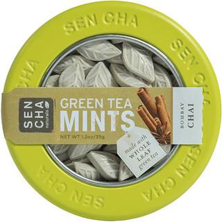Sencha Naturals, Green Tea Mints, Bombay Chai, 1.2 oz (35 g)