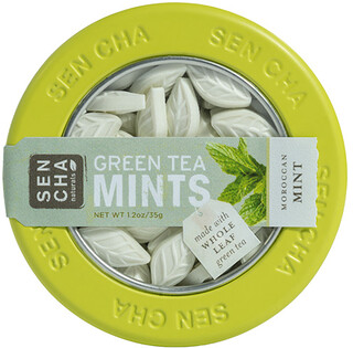 Sencha Naturals, Green Tea Mints, Moroccan Mint, 1.2 oz (35 g)