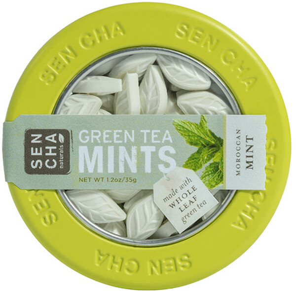 Green Tea Mints, Moroccan Mint, 1.2 oz (35 g)