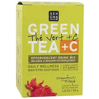 Sencha Naturals, Green Tea + C, Dragonfruit, 10 Packets, 1.8 oz (50 g) Each