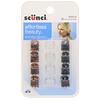 Scunci, Mini piranha para cabelos Effortless Beauty, cores variadas, 12 peças