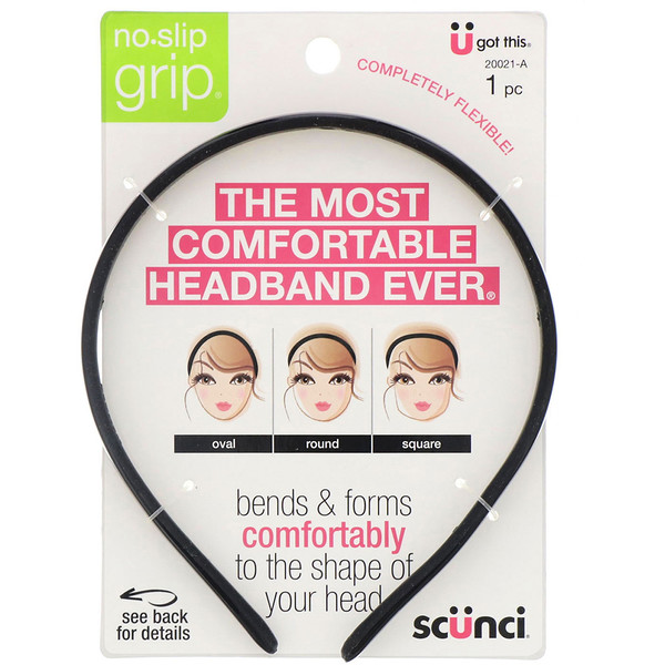 No Slip Grip, Bendable Headband, 1 Piece