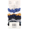 Scunci, Miniselásticos de cabelo tipo scrunchies No Damage, cores variadas de jeans, 8 peças