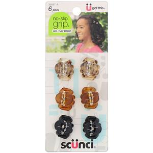 Scunci, No Slip Grip, Mini Octopus Jaw Clips, Assorted Colors, 6 Pieces отзывы покупателей