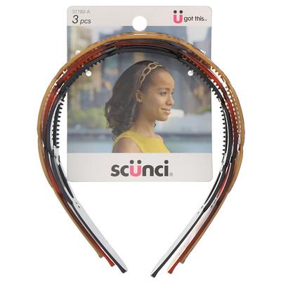 Купить Scunci Обручи для волос, разные цвета, 3штуки